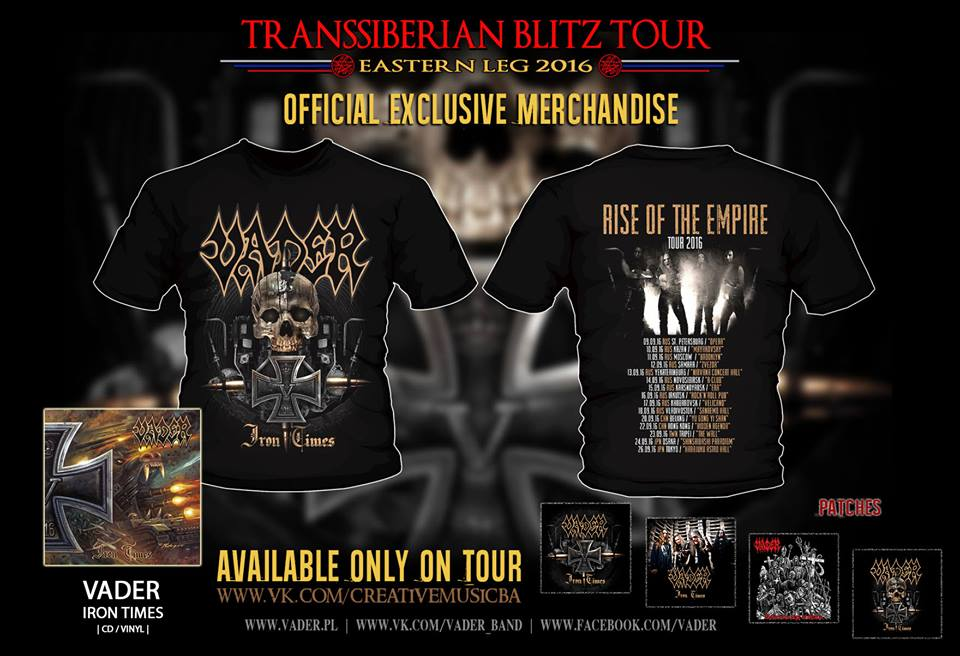 New Official Vader Merchandise During Transsiberian Blitz Tour 2016